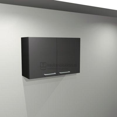 Bovenkast 1.00 m breed - Carbon zwart