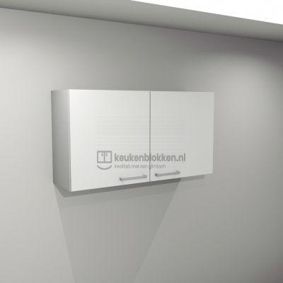 Bovenkast 1.20 m breed - Alpine wit (op voorraad)