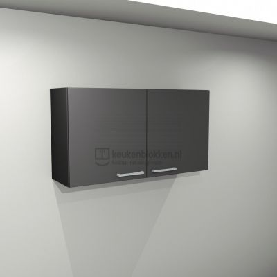 Bovenkast 1.20 m breed - Carbon zwart