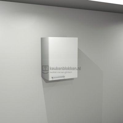 Bovenkast rechtsdraaiend 0.50 m breed - Alpine wit hoogglans