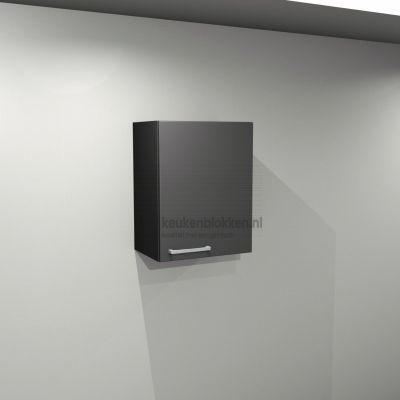 Bovenkast rechtsdraaiend 0.50 m breed - Carbon zwart