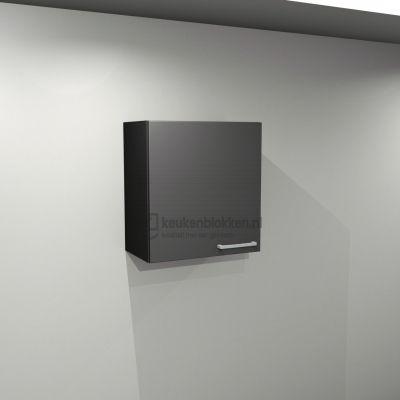 Bovenkast linksdraaiend 0.60 m breed - Carbon zwart