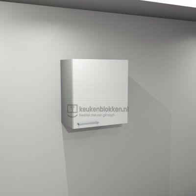 Bovenkast rechtsdraaiend 0.60 m breed - Alpine wit hoogglans