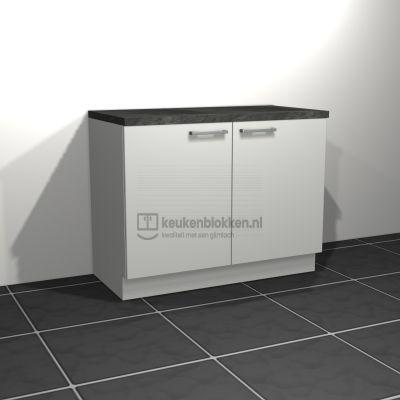Keukenblok zonder spoelbak 1.20 m breed - Alpine wit