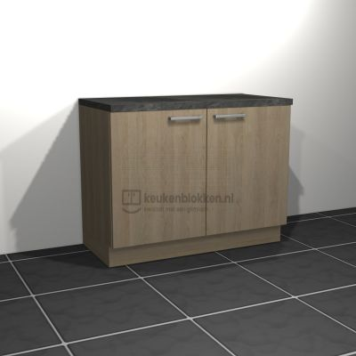 Keukenblok zonder spoelbak 1.20 m breed - Eiken zand