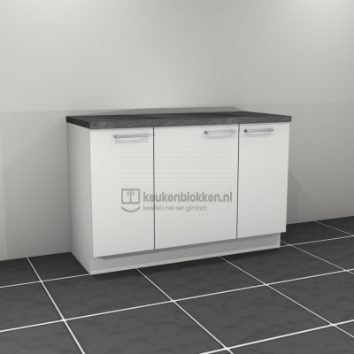 Keukenblok zonder spoelbak 1.40 m breed - Alpine wit