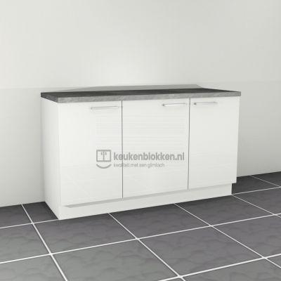 Keukenblok zonder spoelbak 1.60 m breed - Alpine wit hoogglans
