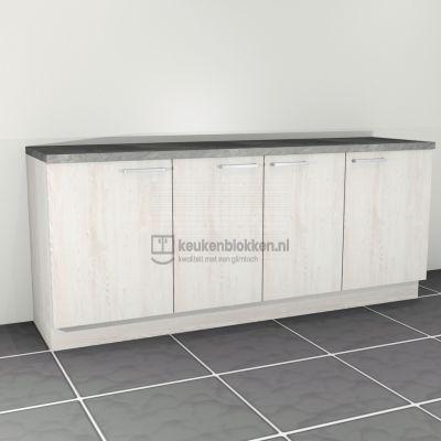 Keukenblok zonder spoelbak 2.20 m breed - Cascina pijnboom (showmodel)