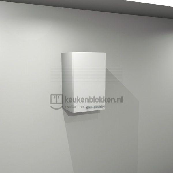 Bovenkast linksdraaiend 0.40 m breed - Alpine wit hoogglans