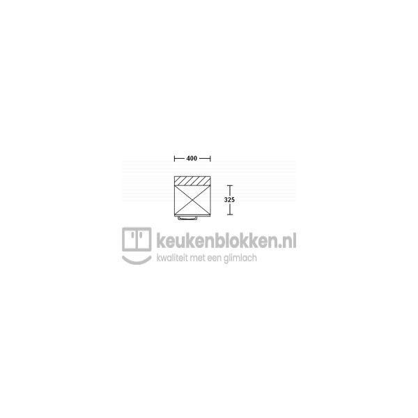 Bovenkast rechtsdraaiend 0.40 m breed - Onyx grijs