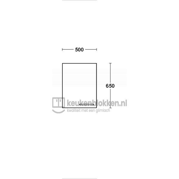 Bovenkast linksdraaiend 0.50 m breed - Alpine wit  (op voorraad)