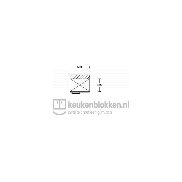 Bovenkast rechtsdraaiend 0.50 m breed - Alpine wit (op voorraad)