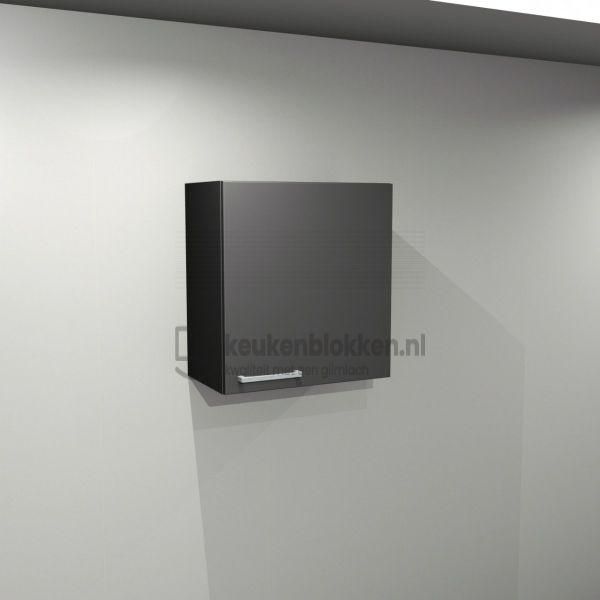 Bovenkast rechtsdraaiend 0.60 m breed - Carbon zwart