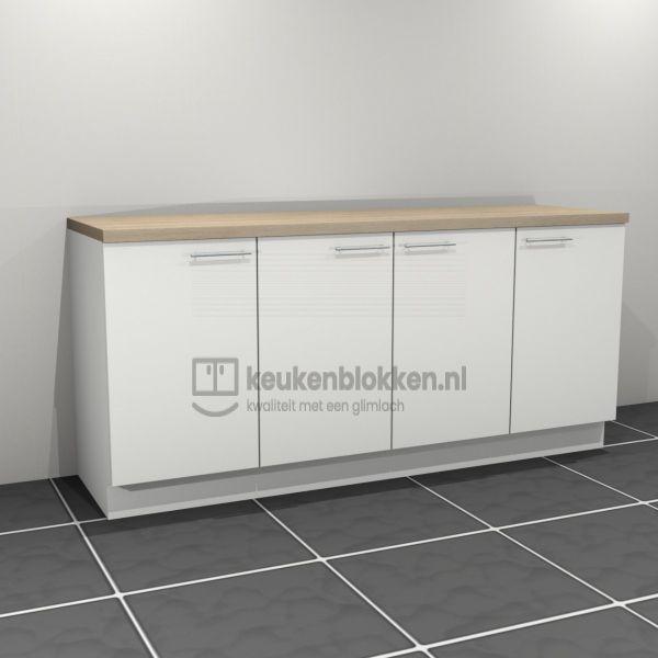 Keukenblok zonder spoelbak 2.00 m breed - Alpine wit