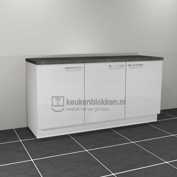 Keukenblok zonder spoelbak 1.80 m breed - Alpine wit hoogglans