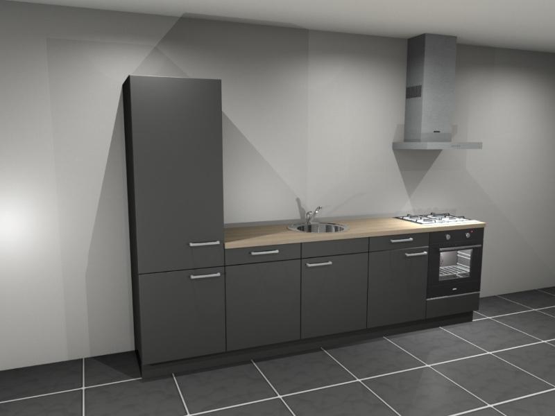 Bij Keukenblokken.nl kun je keukens kopen in verschillende kleuren, bijvoorbeeld een zwart keukenblok